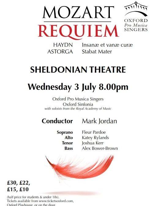 Concert Poster - Mozart Requiem