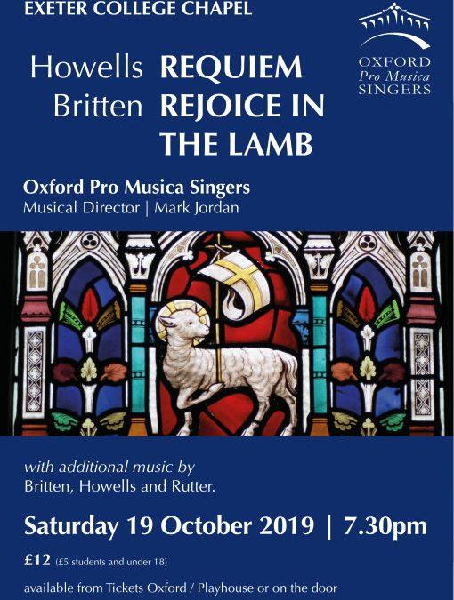 Britten: Rejoice in the Lamb & Howells: Requiem